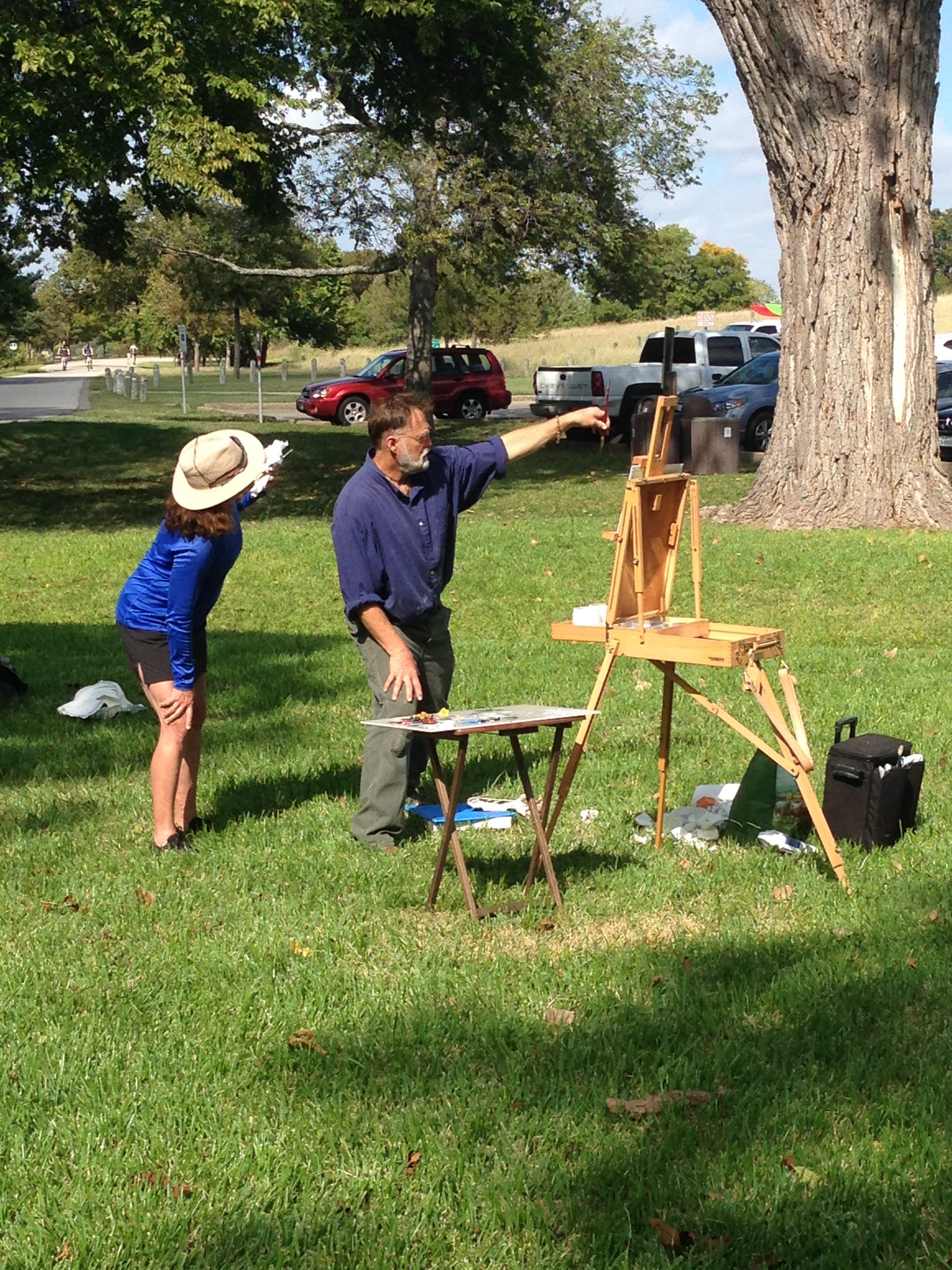 Bob Stuth-Wade teaching plein air painting